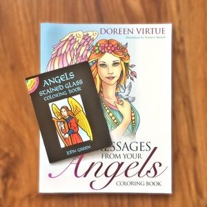 Bundle of 2 Angels Coloring Books